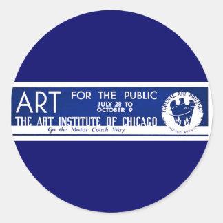 Arte para el público - poster de WPA - Etiqueta Redonda