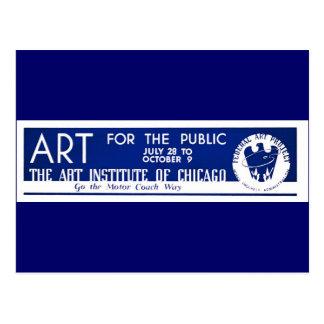 Arte para el público - poster de WPA - Postal