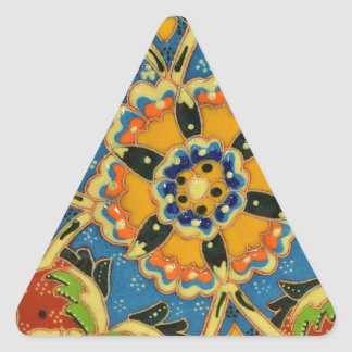 Arte para la vida pegatina triangular
