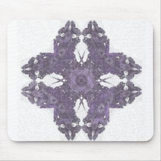 Arte partido del fractal del pétalo de Lavendar Alfombrillas De Ratones
