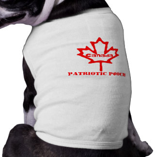 Arte patriótico canadiense de la hoja del Chucho-A Playera Sin Mangas Para Perro