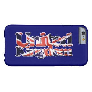 Arte patriótico de la bandera de Union Jack Reino Funda Barely There iPhone 6