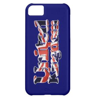 Arte patriótico de la bandera de Union Jack Reino Funda Para iPhone 5C