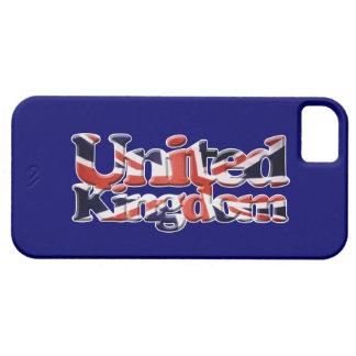Arte patriótico de la bandera de Union Jack Reino iPhone 5 Fundas