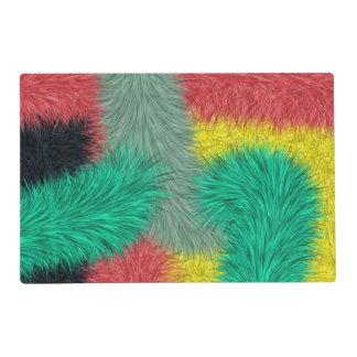 Arte peludo colorido moderno salvamanteles