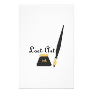 Arte perdido papelería de diseño