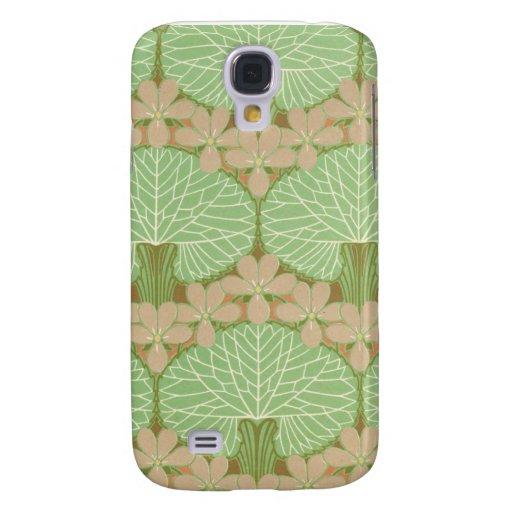 arte pern floral verde frondoso del diseño del nou funda para galaxy s4