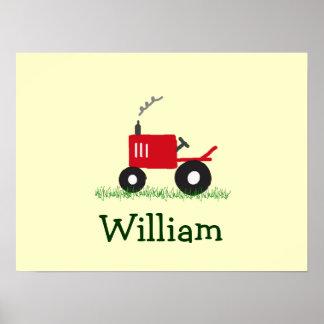 Arte personalizado de la pared del tractor: póster