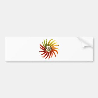 arte picante caliente de la pimienta pegatina de parachoque