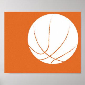 Arte pintado a mano moderno del baloncesto - 1 de póster