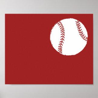 Arte pintado a mano moderno del béisbol - 1 de 6 póster