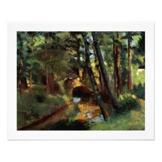 Arte Pissarro de Pontoise Francia que pinta el peq Flyer Personalizado
