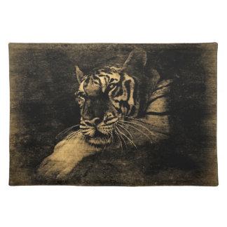 Arte Placemats del vintage del tigre Mantel