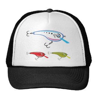 Arte plástico del vector del señuelo de la pesca gorra