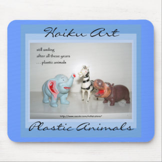 Arte plástico Mousepad del Haiku de los animales Tapete De Ratones
