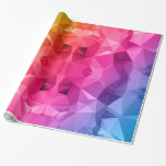 Arte poligonal/bajo polivinílico abstracto papel de regalo