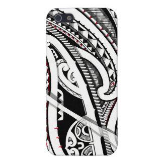 Arte polinesio/maorí tribal perfecto del tatuaje iPhone 5 carcasa