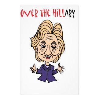 Arte político anti divertido de Hillary Clinton Papeleria