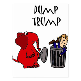 Arte político del dibujo animado del triunfo postal