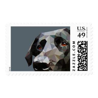 Arte polivinílico bajo del laboratorio negro timbre postal