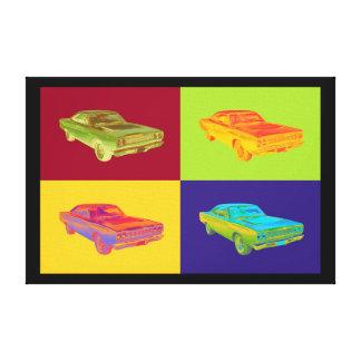 Arte pop 1968 del coche del músculo del Roadrunner Impresión En Lona