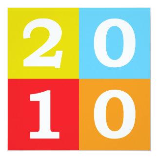 """Arte pop 2010 invitación 5.25"""" x 5.25"""""""