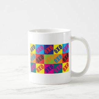 Arte pop acordeón taza