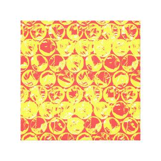 Arte pop amarillo rojo del plástico de burbujas impresiones en lienzo estiradas