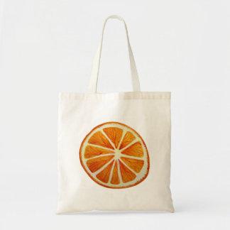 Arte pop anaranjado jugoso de la fruta de la bolsa tela barata