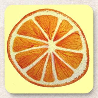 Arte pop anaranjado jugoso de la fruta de la posavaso