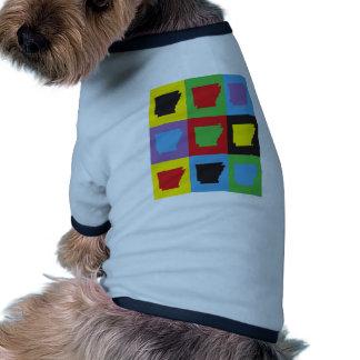 Arte pop Arkansas Camiseta Con Mangas Para Perro