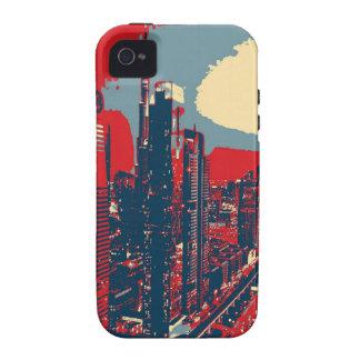 Arte pop artístico del horizonte de Dubai Case-Mate iPhone 4 Carcasa