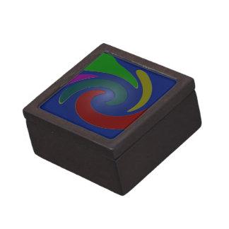 arte pop azul colorido caja de recuerdo de calidad