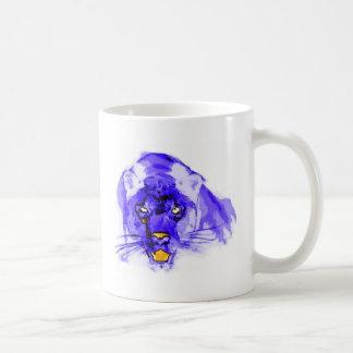 Arte pop azul de Digitaces Jaguar Taza Clásica