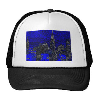Arte pop azul New York City Gorro
