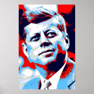 Arte pop azul rojo JFK John F. Kennedy