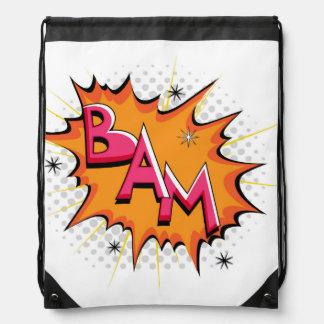 ¡Arte pop Bam cómico Mochilas