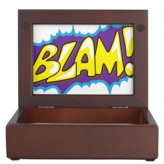 ¡Arte pop Blam cómico! Cajas De Recuerdos