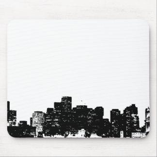 Arte pop blanco negro New York City Mouse Pad