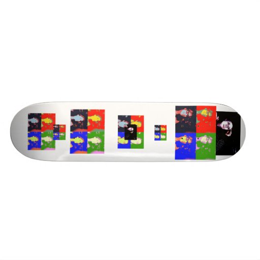 Arte pop borroso de la foto de los bordes 1026, pH Monopatines Personalizados