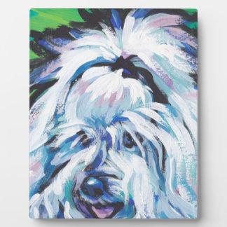 Arte pop brillante de la diversión de Tulear Dog Placa