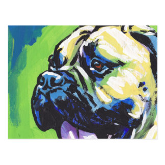 Arte pop brillante de la diversión del perro de postales