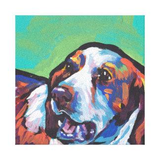 Arte pop brillante de la diversión del perro del lona estirada galerías
