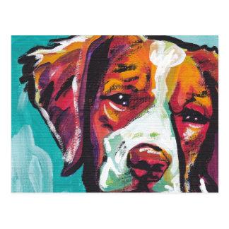 Arte pop brillante de la diversión del perro del postales