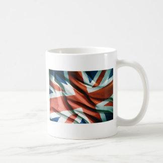 Arte pop británico de la bandera taza de café