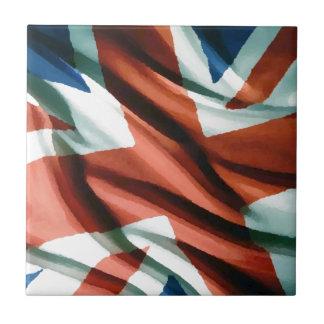 Arte pop británico de la bandera teja