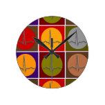 Arte pop cardiaco de QRS Relojes De Pared