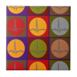 Arte pop cardiaco de QRS Teja Ceramica