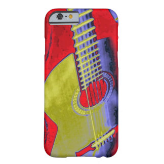 Arte pop clásico de la guitarra funda para iPhone 6 barely there