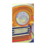Arte pop clásico de la linterna del coche impresion en lona